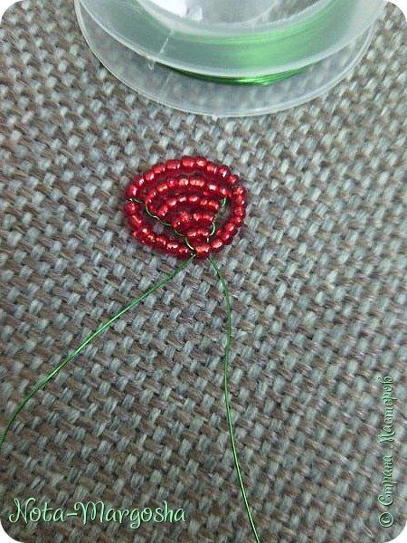 Здравствуйте, дорогие жители СМ! Сегодня я хочу показать МК закладки-цветка в технике бисероплетения. Сильно тапками не забрасывайте - это мой первый МК. фото 12