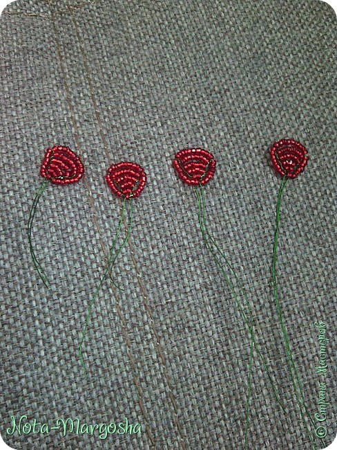 Здравствуйте, дорогие жители СМ! Сегодня я хочу показать МК закладки-цветка в технике бисероплетения. Сильно тапками не забрасывайте - это мой первый МК. фото 13