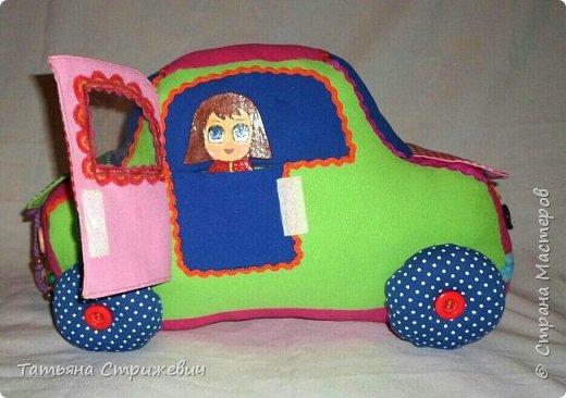 Придумался вот такой  Веселый автомобильчик . Куколок сделала из плотного переплетного картона в два слоя,. Размер машинки: длинна 40 см , высота 25 см , ширина 24 см. фото 6