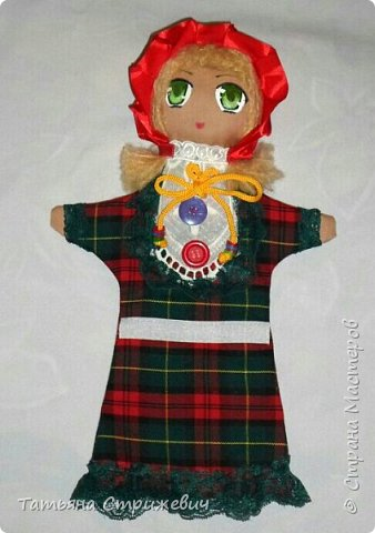 кукла-перчатка Красная Шапочка развивающая мелкую моторику фото 2