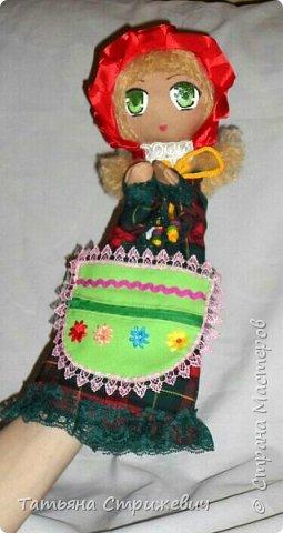 кукла-перчатка Красная Шапочка развивающая мелкую моторику фото 3