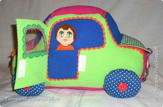 Придумался вот такой  Веселый автомобильчик . Куколок сделала из плотного переплетного картона в два слоя,. Размер машинки: длинна 40 см , высота 25 см , ширина 24 см. фото 5