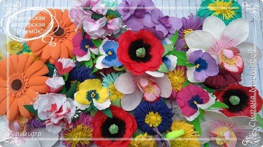 Цветы из фома фото 5
