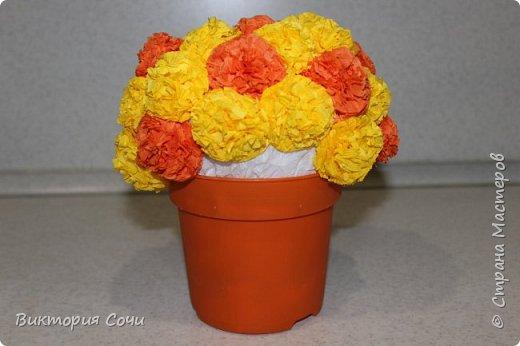 Изящные и оригинальные цветы можно сделать из обычных бумажных салфеток и преподнести их в качестве креативного подарка. Материал бумажных салфеток позволяет создавать из него самые разнообразные цветы.Многослойные или обычные салфетки легко превратить в роскошные розы, пионы, гвоздики, одуванчики или другие цветы.Я решила сделать одуванчики.   Для работы выбирайте более плотные салфетки, они лучше держат форму. фото 7