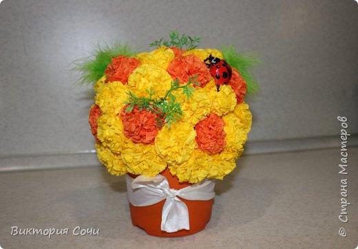 Изящные и оригинальные цветы можно сделать из обычных бумажных салфеток и преподнести их в качестве креативного подарка. Материал бумажных салфеток позволяет создавать из него самые разнообразные цветы.Многослойные или обычные салфетки легко превратить в роскошные розы, пионы, гвоздики, одуванчики или другие цветы.Я решила сделать одуванчики.   Для работы выбирайте более плотные салфетки, они лучше держат форму. фото 8