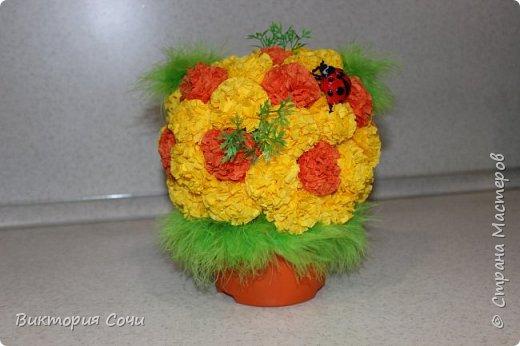 Изящные и оригинальные цветы можно сделать из обычных бумажных салфеток и преподнести их в качестве креативного подарка. Материал бумажных салфеток позволяет создавать из него самые разнообразные цветы.Многослойные или обычные салфетки легко превратить в роскошные розы, пионы, гвоздики, одуванчики или другие цветы.Я решила сделать одуванчики.   Для работы выбирайте более плотные салфетки, они лучше держат форму. фото 9