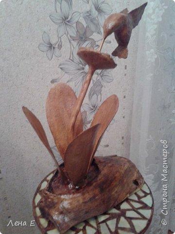 Здравствуй страна! вот мое новое творение.Основа натуральное дерево, все остальное папье маше, высота 50 см фото 3