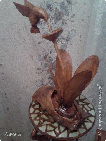 Здравствуй страна! вот мое новое творение.Основа натуральное дерево, все остальное папье маше, высота 50 см фото 4