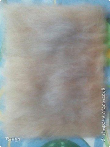 Всем привет! Сегодня я попробовала то, что давно мечтала попробовать - шерстяную акварель. Вот ,что у меня получилось: фото 4