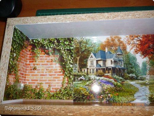 """Всем привет. Моя новая миниатюра """"Сад """" и маленький МК. Миниатюра длинная, почти 60 см, но высотой 15см, поэтому общий вид сделать сложно. Далее будут фрагменты и можно все разглядеть. фото 3"""