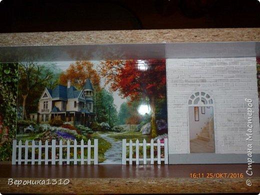 """Всем привет. Моя новая миниатюра """"Сад """" и маленький МК. Миниатюра длинная, почти 60 см, но высотой 15см, поэтому общий вид сделать сложно. Далее будут фрагменты и можно все разглядеть. фото 10"""
