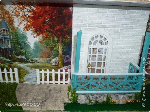 """Всем привет. Моя новая миниатюра """"Сад """" и маленький МК. Миниатюра длинная, почти 60 см, но высотой 15см, поэтому общий вид сделать сложно. Далее будут фрагменты и можно все разглядеть. фото 32"""