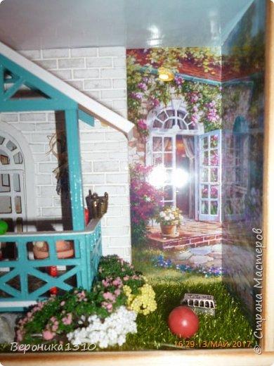 """Всем привет. Моя новая миниатюра """"Сад """" и маленький МК. Миниатюра длинная, почти 60 см, но высотой 15см, поэтому общий вид сделать сложно. Далее будут фрагменты и можно все разглядеть. фото 41"""
