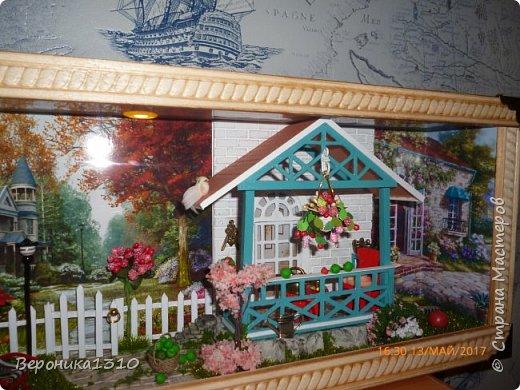 """Всем привет. Моя новая миниатюра """"Сад """" и маленький МК. Миниатюра длинная, почти 60 см, но высотой 15см, поэтому общий вид сделать сложно. Далее будут фрагменты и можно все разглядеть. фото 43"""
