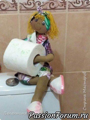 Кукла-держатель туалетной бумаги фото 6
