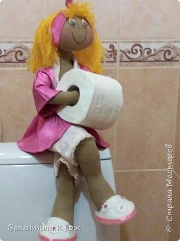 Кукла-держатель туалетной бумаги фото 4