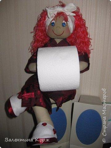 Кукла-держатель туалетной бумаги фото 7