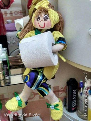 Кукла-держатель туалетной бумаги фото 13