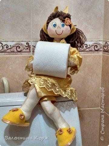 Кукла-держатель туалетной бумаги фото 8