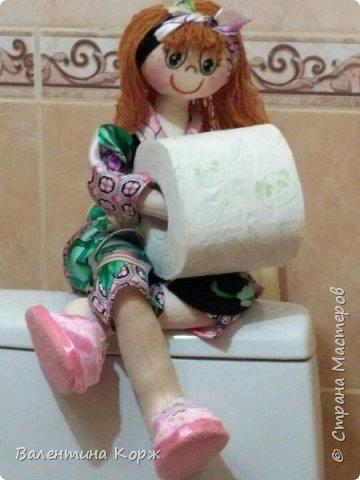 Кукла-держатель туалетной бумаги фото 5