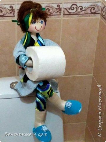 Кукла-держатель туалетной бумаги фото 9