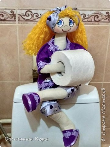 Кукла-держатель туалетной бумаги фото 14