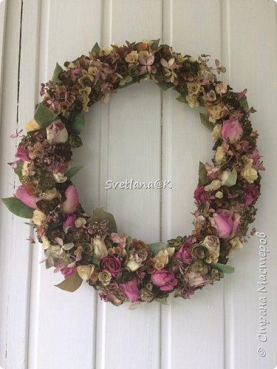 Венок из сухих цветов фото 1