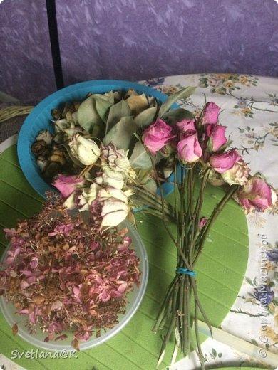 Венок из сухих цветов фото 2