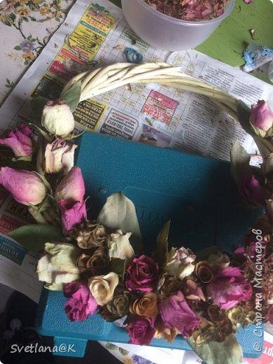Венок из сухих цветов фото 4