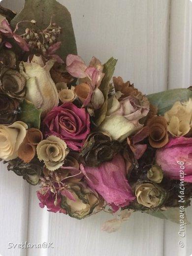 Венок из сухих цветов фото 6