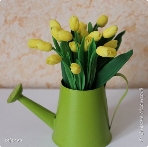 Тюльпаны.  (керамическая флористика). фото 4