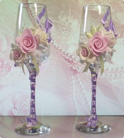Здравствуйте! Сегодня хочу вам показать набор для  свадьбы в пастельных тонах. Нам с напарницей поступил заказ на свадебные аксессуары. Так как невеста должна быть в платье цвета айвори, основными цветами были айвори, розовый и лаванда.  Итак...  Набор для церемонии со свечами. фото 10