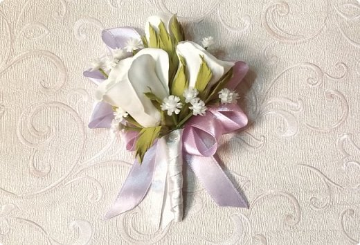 Здравствуйте! Сегодня хочу вам показать набор для  свадьбы в пастельных тонах. Нам с напарницей поступил заказ на свадебные аксессуары. Так как невеста должна быть в платье цвета айвори, основными цветами были айвори, розовый и лаванда.  Итак...  Набор для церемонии со свечами. фото 5