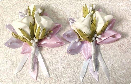 Здравствуйте! Сегодня хочу вам показать набор для  свадьбы в пастельных тонах. Нам с напарницей поступил заказ на свадебные аксессуары. Так как невеста должна быть в платье цвета айвори, основными цветами были айвори, розовый и лаванда.  Итак...  Набор для церемонии со свечами. фото 6