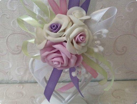 Здравствуйте! Сегодня хочу вам показать набор для  свадьбы в пастельных тонах. Нам с напарницей поступил заказ на свадебные аксессуары. Так как невеста должна быть в платье цвета айвори, основными цветами были айвори, розовый и лаванда.  Итак...  Набор для церемонии со свечами. фото 2