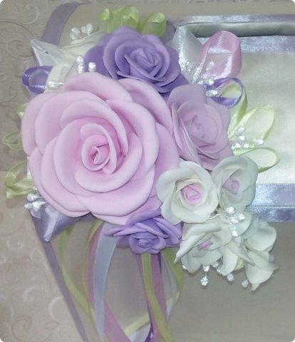 Здравствуйте! Сегодня хочу вам показать набор для  свадьбы в пастельных тонах. Нам с напарницей поступил заказ на свадебные аксессуары. Так как невеста должна быть в платье цвета айвори, основными цветами были айвори, розовый и лаванда.  Итак...  Набор для церемонии со свечами. фото 12