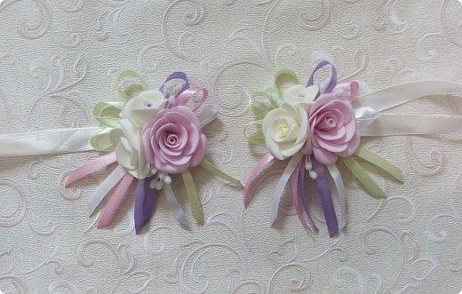 Здравствуйте! Сегодня хочу вам показать набор для  свадьбы в пастельных тонах. Нам с напарницей поступил заказ на свадебные аксессуары. Так как невеста должна быть в платье цвета айвори, основными цветами были айвори, розовый и лаванда.  Итак...  Набор для церемонии со свечами. фото 9