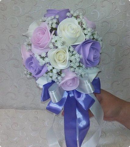 Здравствуйте! Сегодня хочу вам показать набор для  свадьбы в пастельных тонах. Нам с напарницей поступил заказ на свадебные аксессуары. Так как невеста должна быть в платье цвета айвори, основными цветами были айвори, розовый и лаванда.  Итак...  Набор для церемонии со свечами. фото 14