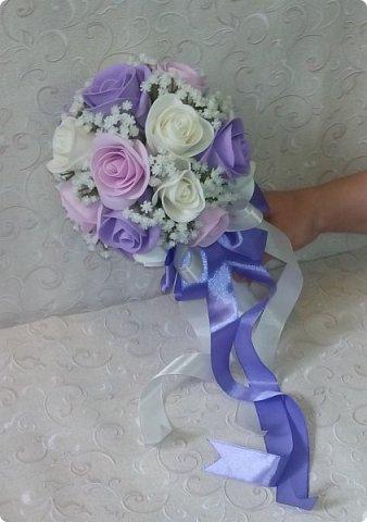 Здравствуйте! Сегодня хочу вам показать набор для  свадьбы в пастельных тонах. Нам с напарницей поступил заказ на свадебные аксессуары. Так как невеста должна быть в платье цвета айвори, основными цветами были айвори, розовый и лаванда.  Итак...  Набор для церемонии со свечами. фото 13