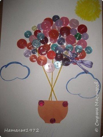 Воздушный шар из пуговиц фото 5