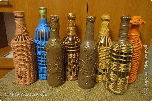 оплетенные бутылки  фото 1