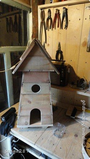 Здравствуйте! Это моя вторая мельничка для украшения сада. Сделана из массива, покрыта лаком. фото 2