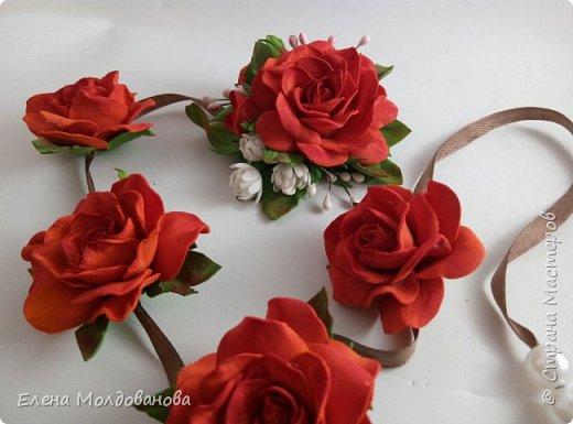 Розы на ленте фото 2