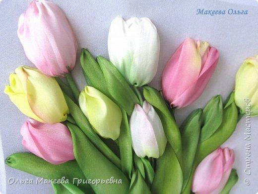 Добрый день СМ! Вот и у меня расцвели запоздалые тюльпаны! У нас на клумбах, они уже давно отцвели, а я только вдохновилась просмотрев работы Прекрасной вышивальщицы Ксении белых. Что у меня получилось судить вам. фото 5
