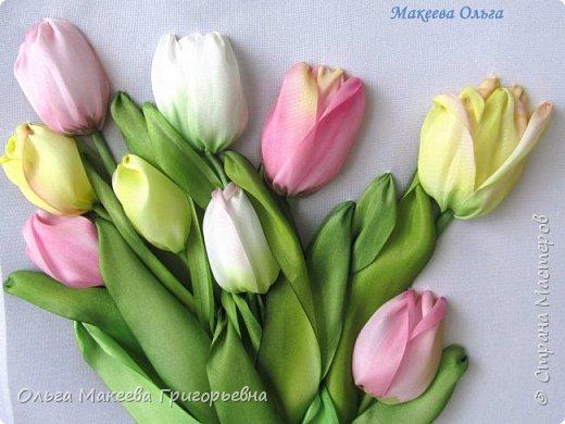 Добрый день СМ! Вот и у меня расцвели запоздалые тюльпаны! У нас на клумбах, они уже давно отцвели, а я только вдохновилась просмотрев работы Прекрасной вышивальщицы Ксении белых. Что у меня получилось судить вам. фото 2