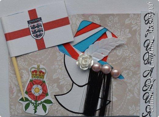 """Доброго времени суток, уважаемые мастерицы! Предлагаю вниманию участников Совместника-3 """"Вкусная география"""" http://stranamasterov.ru/node/1087039?c=favorite серию АТС «Соединенное Королевство». Как известно, Великобритания (Соединенное Королевство) объединяет 4 государства: Британия, Северная Ирландия, Шотландия и Уэльс. На карточках отображены герб, флаг и символы этих государств.  Шляпки выполнены в технике айрис фолдинг. фото 5"""