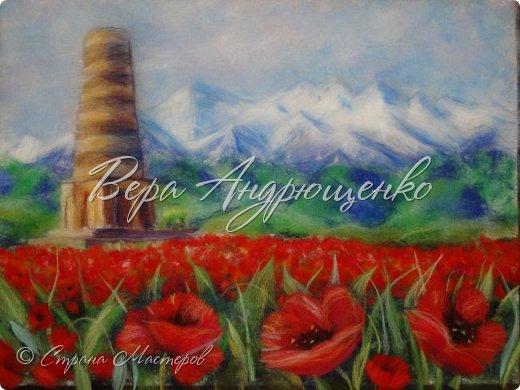 Башня Бурана - памятник архитектуры. Находится в Кыргызстане близ г.Токмак, у подножья гор. Весной там такая красотища!  фото 5