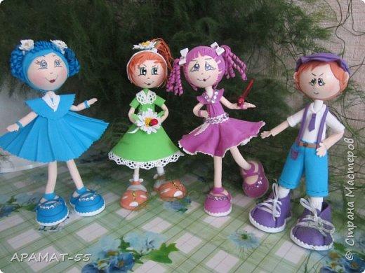 Здравствуйте!!! Сегодня у меня опять куклы.Увлеклась. Целая компания ребятишек. фото 1