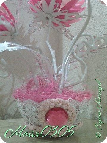 Решилась на канзашик повторюшку . Получилось розовое нежное чудо ... фото 5