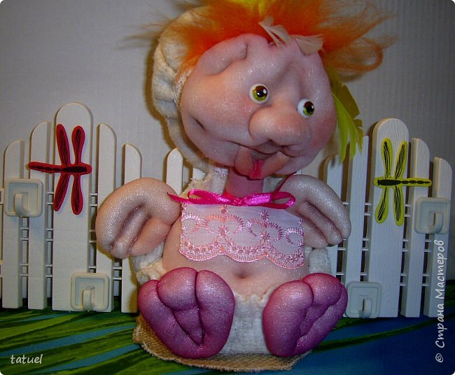 Привет всем зашедшим! Сделала такую ключницу.  Это новорожденный утенок, который в будущем превратиться в прекрасного лебедя.  фото 1